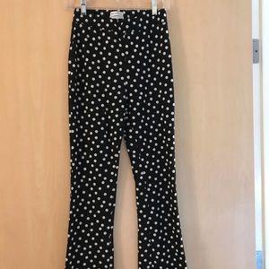 urban outfitters kick flare polka dot pants